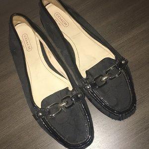 Coach Signature Perri Black Logo Loafers Flats